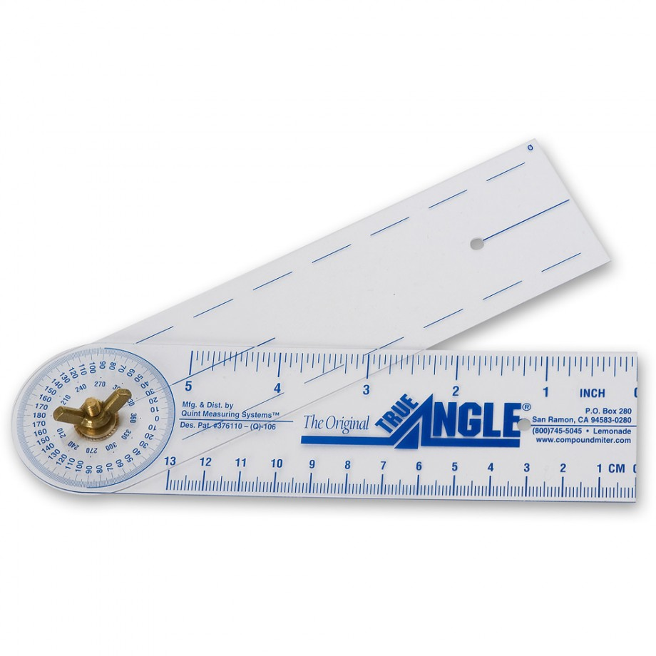 True Angle Protractor - Pocket Size 7""
