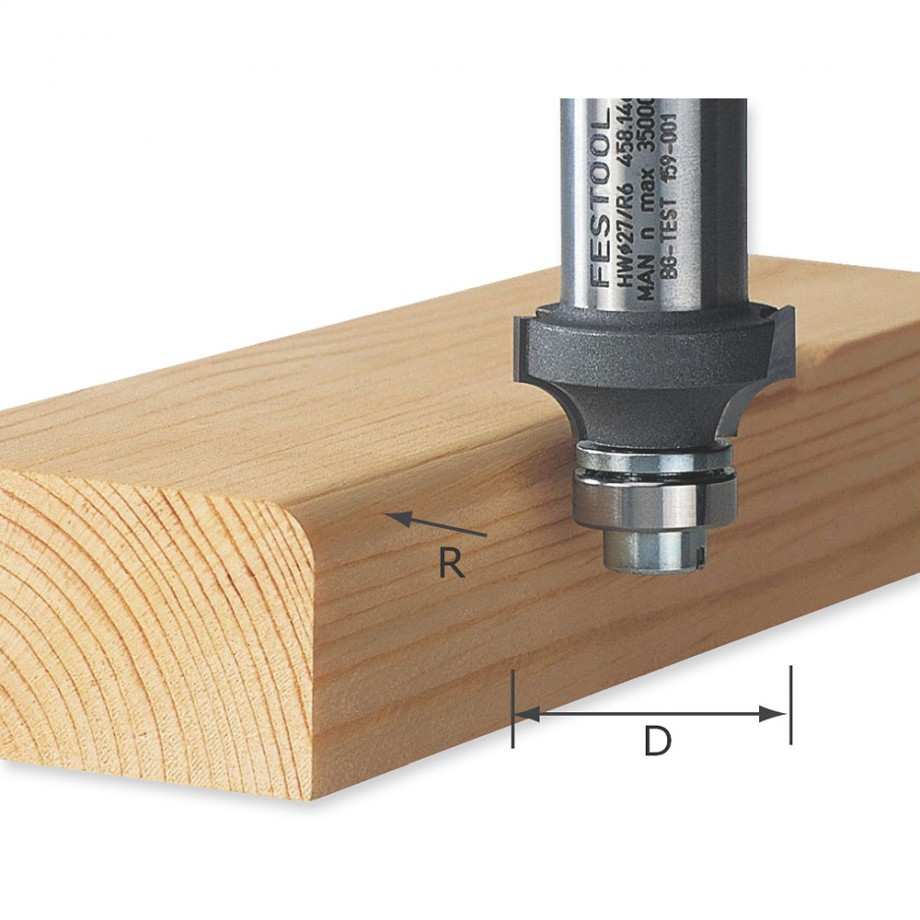 Festool Ogee Router Cutters for OFK 500 Q-Plus Trimmer