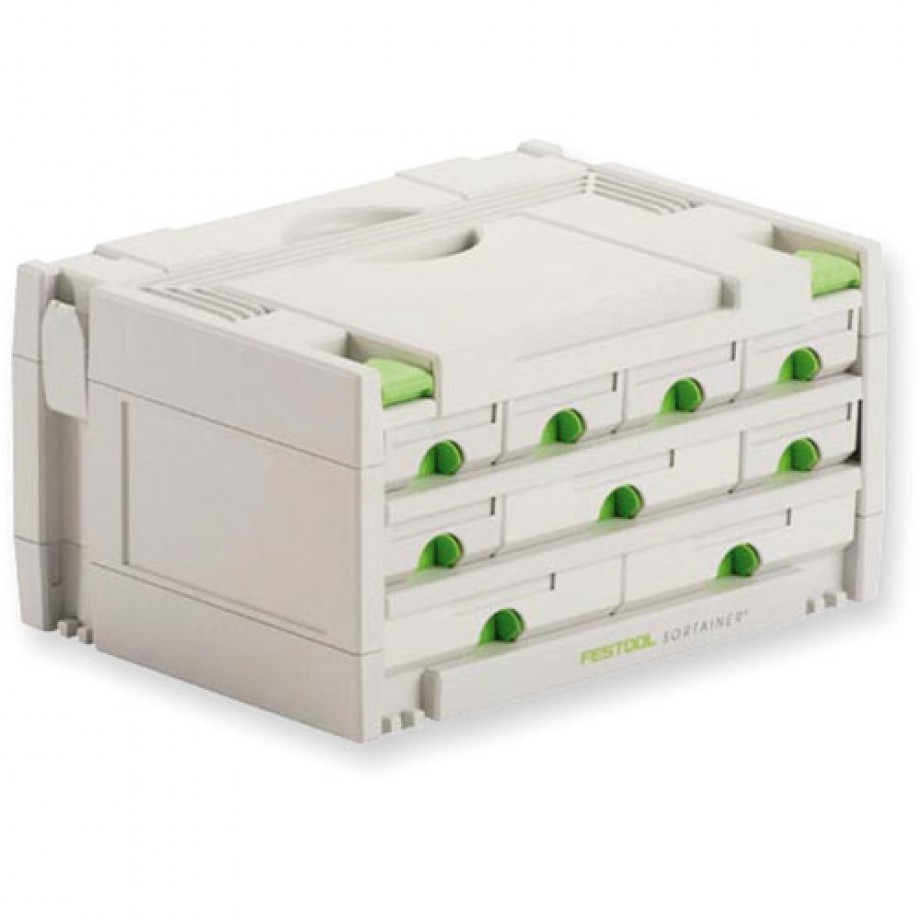 Festool Systainer Sortainer - 6 Small Drawers, 3 Med Drawers