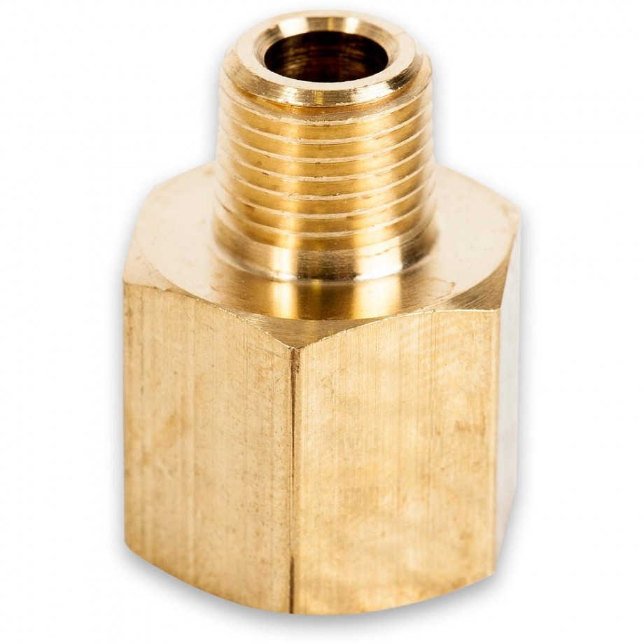 "Axminster Airline Fitting Reducer 1/4"" BSPT Female, 1/8"" BSPT Male"