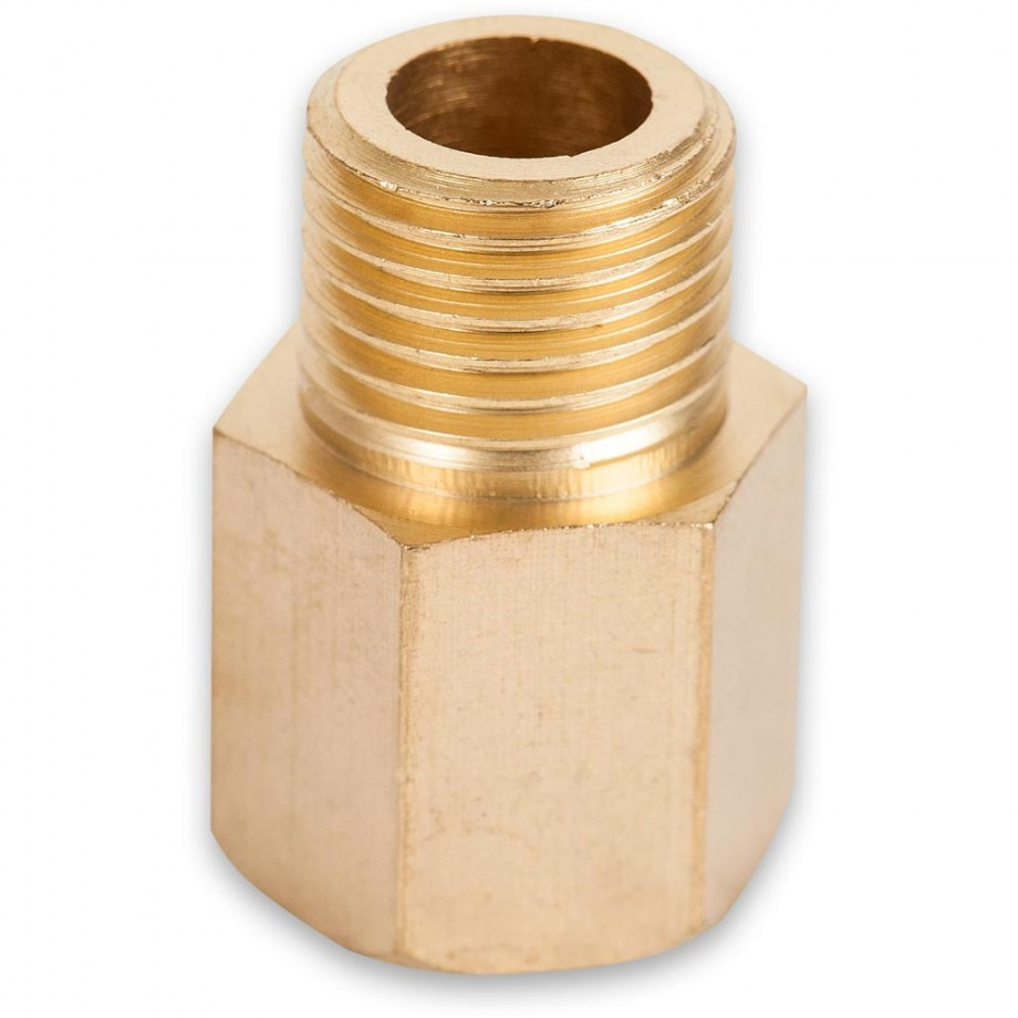 "Axminster Airline Fitting Joiner 1/4"" BSPT Female, 1/4"" BSPT Male"