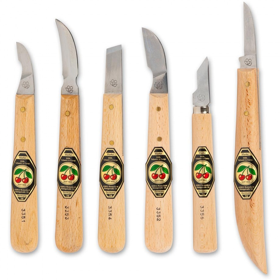 Kirschen piece chip carving knife set