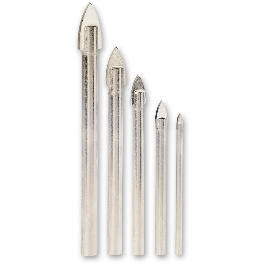 Axminster GlassTile Drill Bit Set Glass Tile Drills Drilling - Best drill bit for porcelain tile uk