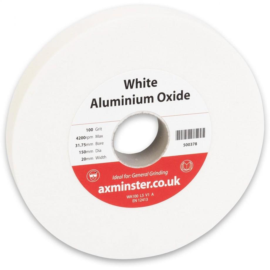 Axminster Grindstone Aluminium Oxide White - 150 x 20 x 31.75mm 100G