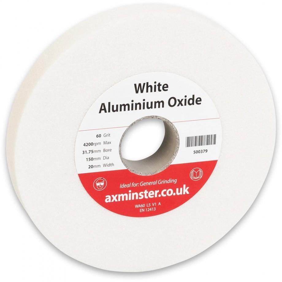 Axminster Grindstone Aluminium Oxide White - 150 x 20 x 31.75mm 60G