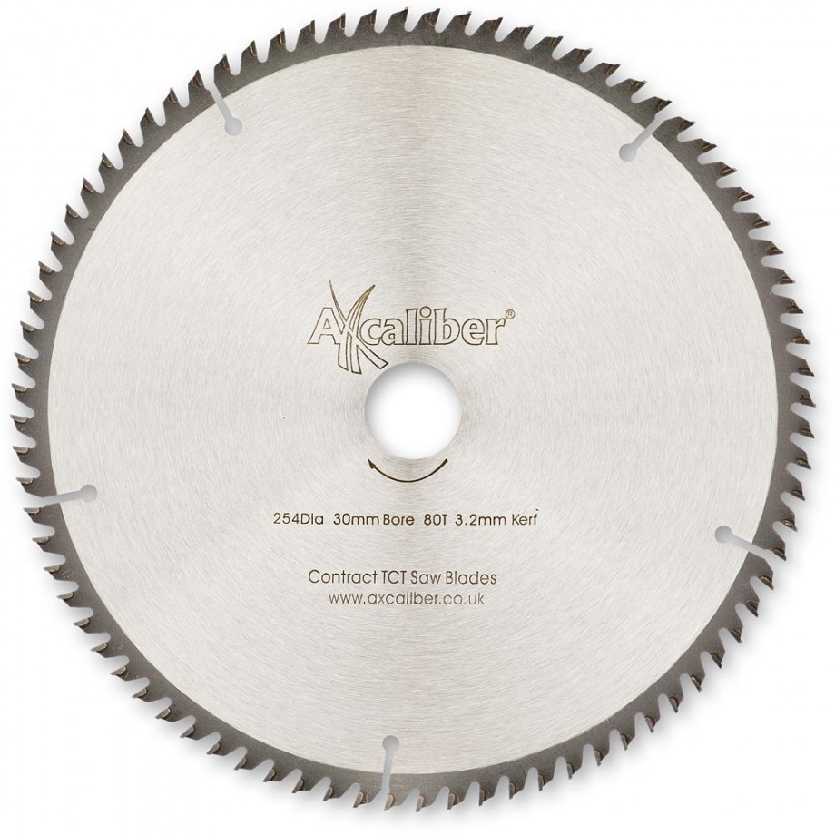 Axcaliber Contract TCT Saw Blade 254mm x 3.2mm x 30mm T80 TCG