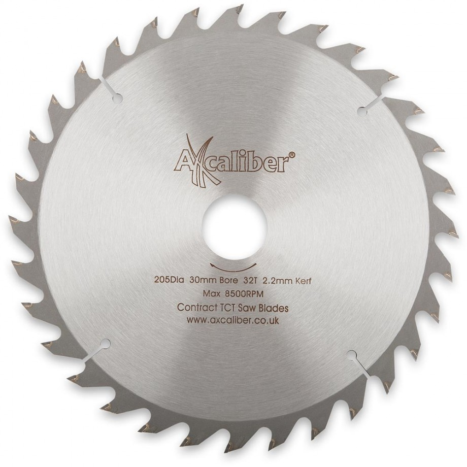 Axcaliber Contract TCT Saw Blade - 205mm x 2.2mm x 30mm 32T Wood