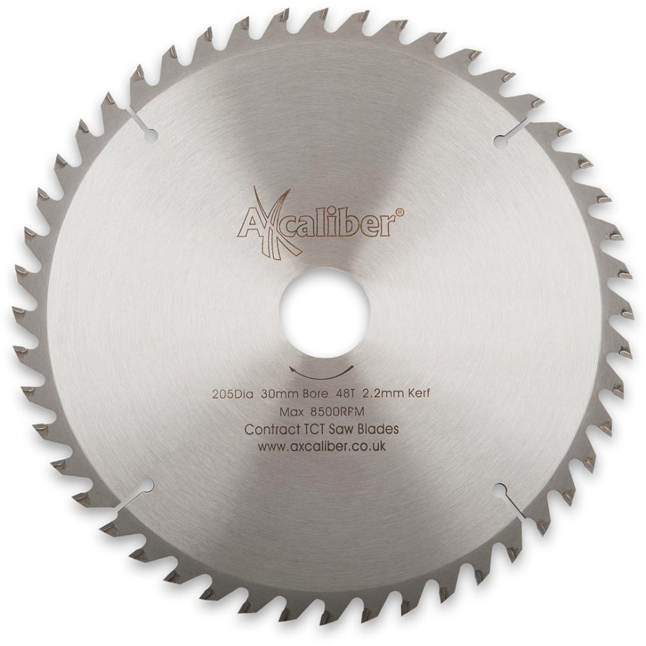 Axcaliber Contract TCT Saw Blade - 205mm x 3mm x 30mm 48T Wood