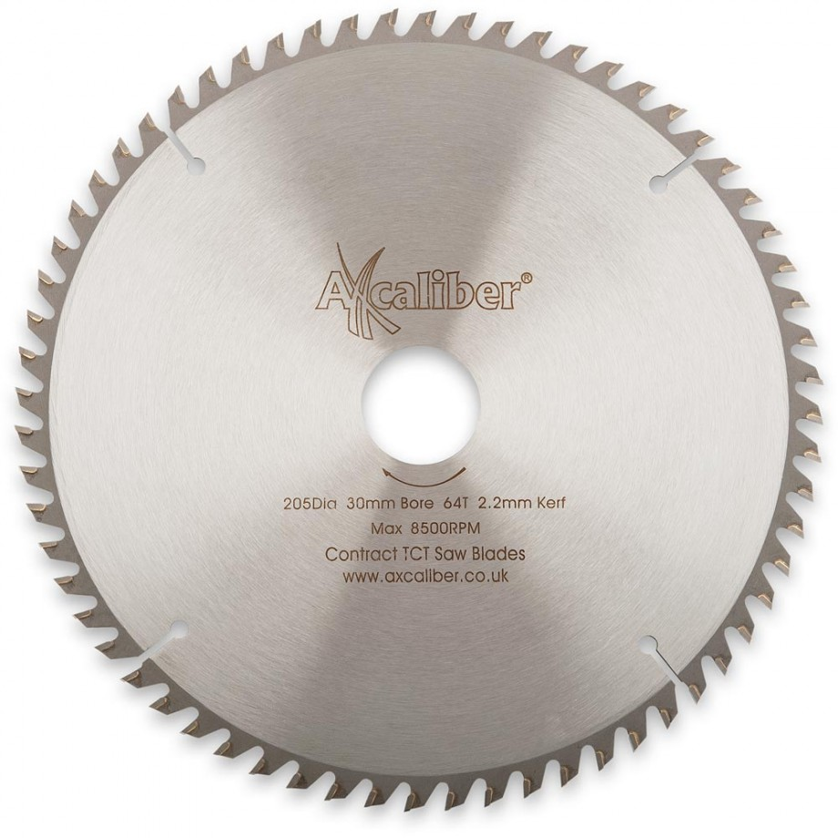 Axcaliber Contract TCT Saw Blade - 205mm x 3mm x 30mm 64T Wood