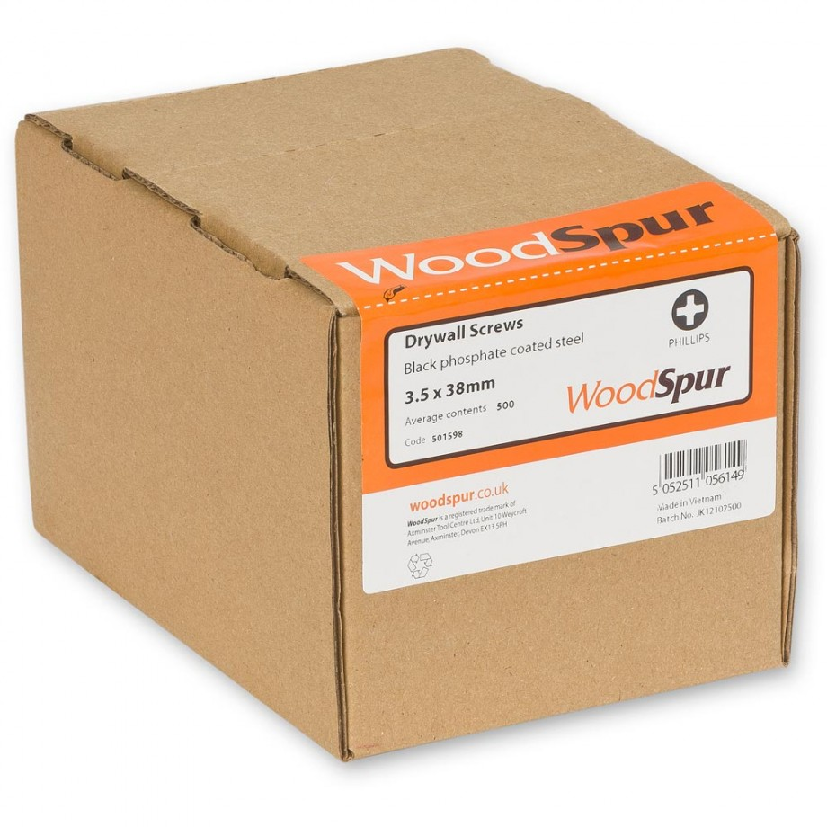 WoodSpur Phillips Head Drywall Screws 3.5 x 38mm (Qty 500)