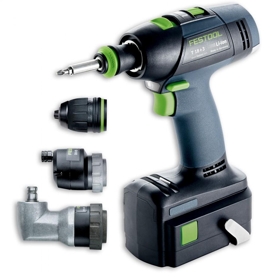 Festool T18+3 Li Cordless Drill Set 18V (5.2Ah)