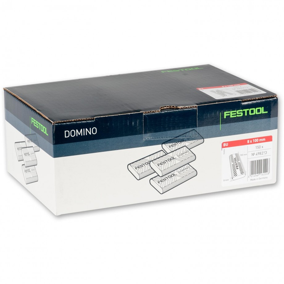 Festool XL DOMINO Dowel 8 x 100mm Pkt 150