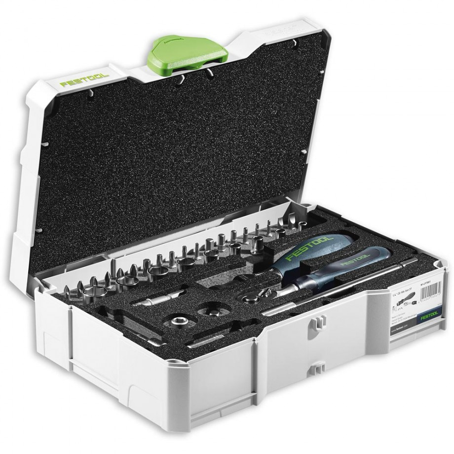 "Festool 37 Piece 1/4"" Ratchet Set in Systainer"