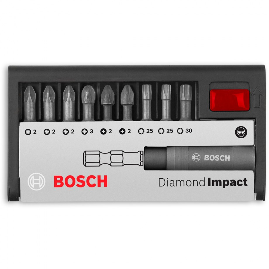 Bosch Diamond Impact Screwdriver Mixed Bit Set