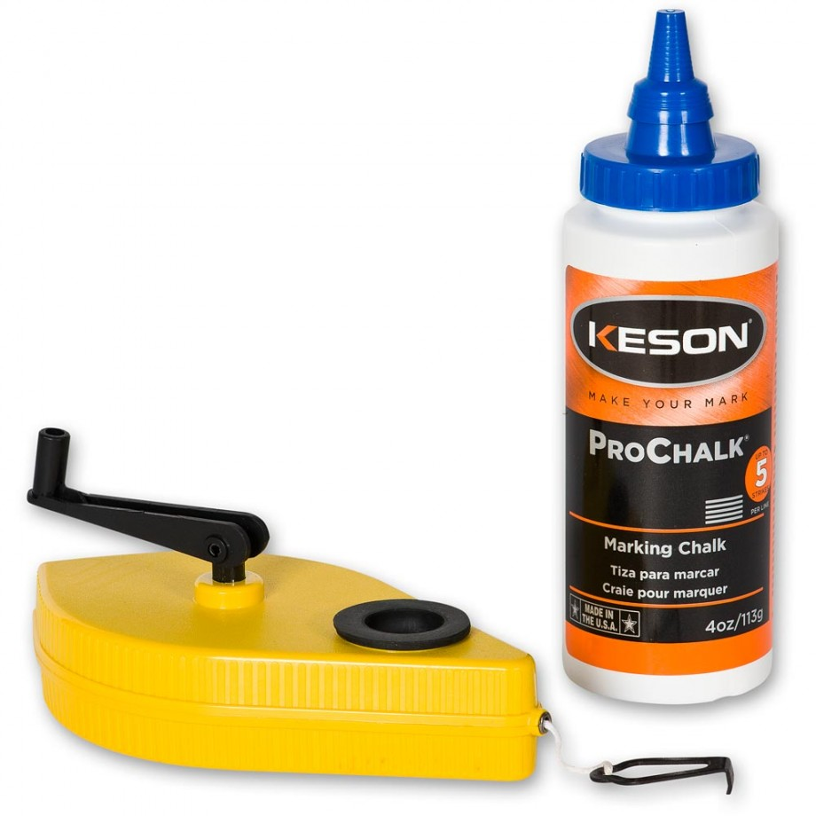 Keson 30m Chalk Line Reel with Blue Chalk