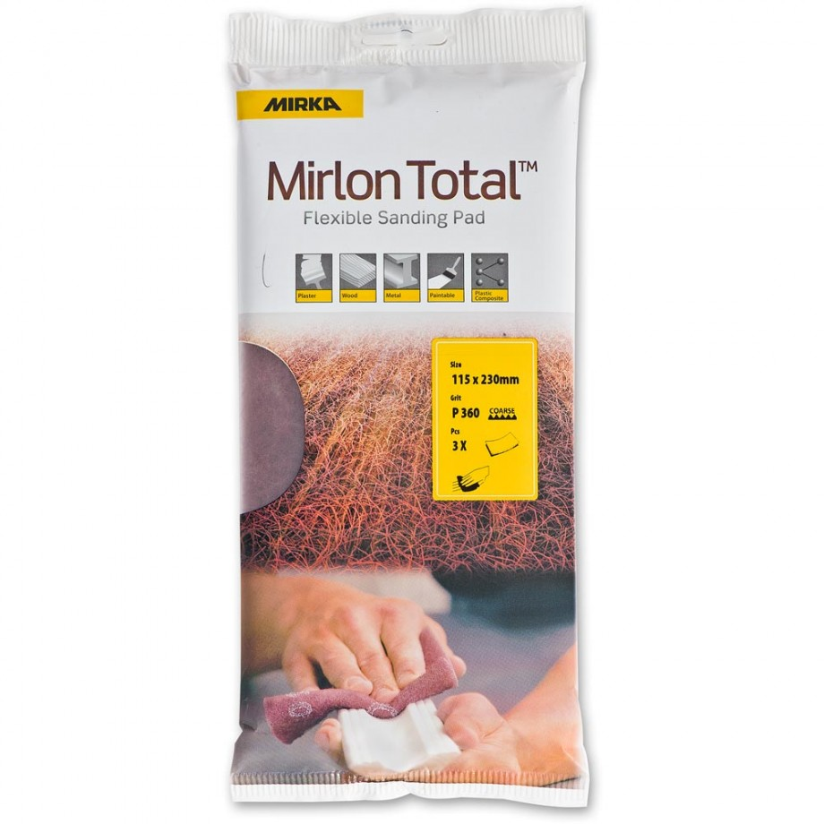 Mirka Mirlon Finishing Pads 115 x 230mm (Pkt 3)