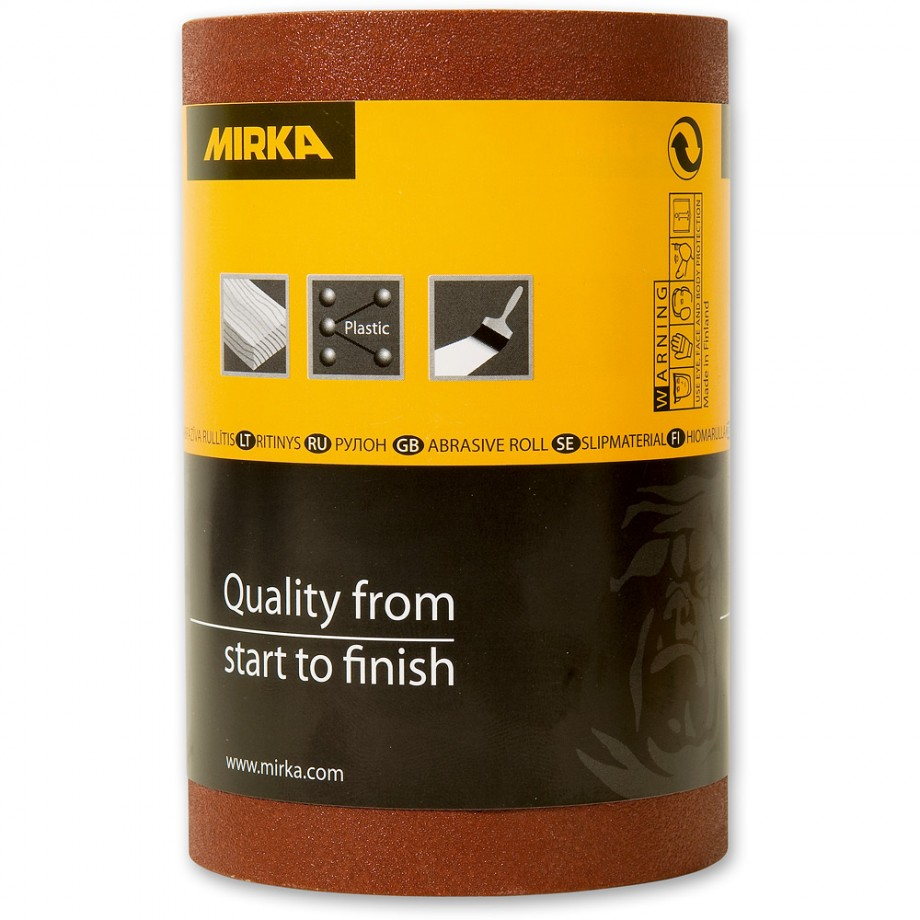 Mirka Avomax Plus Abrasive Roll 100Grit - 115mm x 50m
