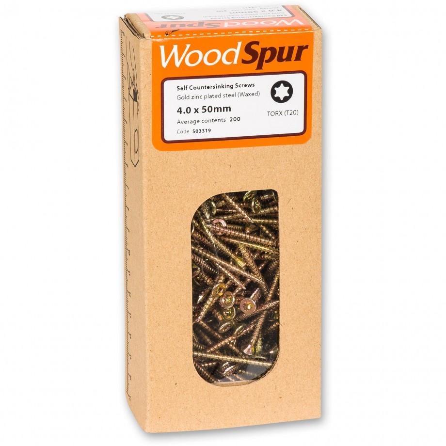 WoodSpur Torx Self Countersinking Screws T20, 4.0 x 50mm(Qty 200)