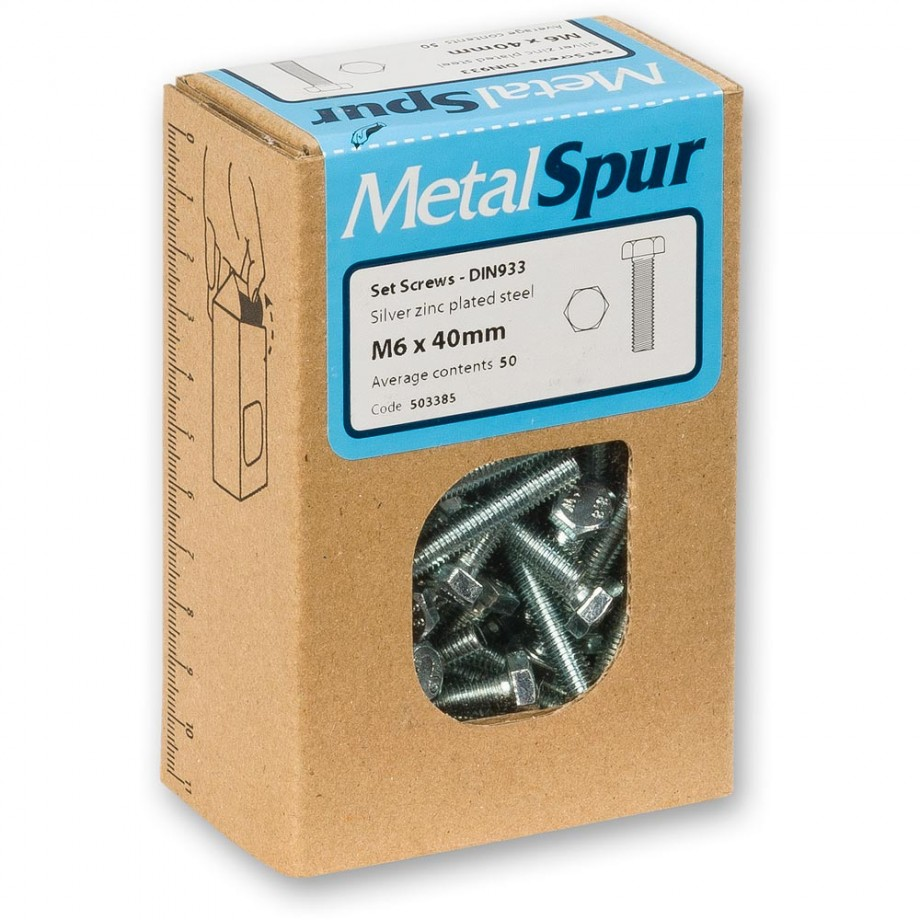 MetalSpur Set Screws, M4 x 40mm (Qty 50)