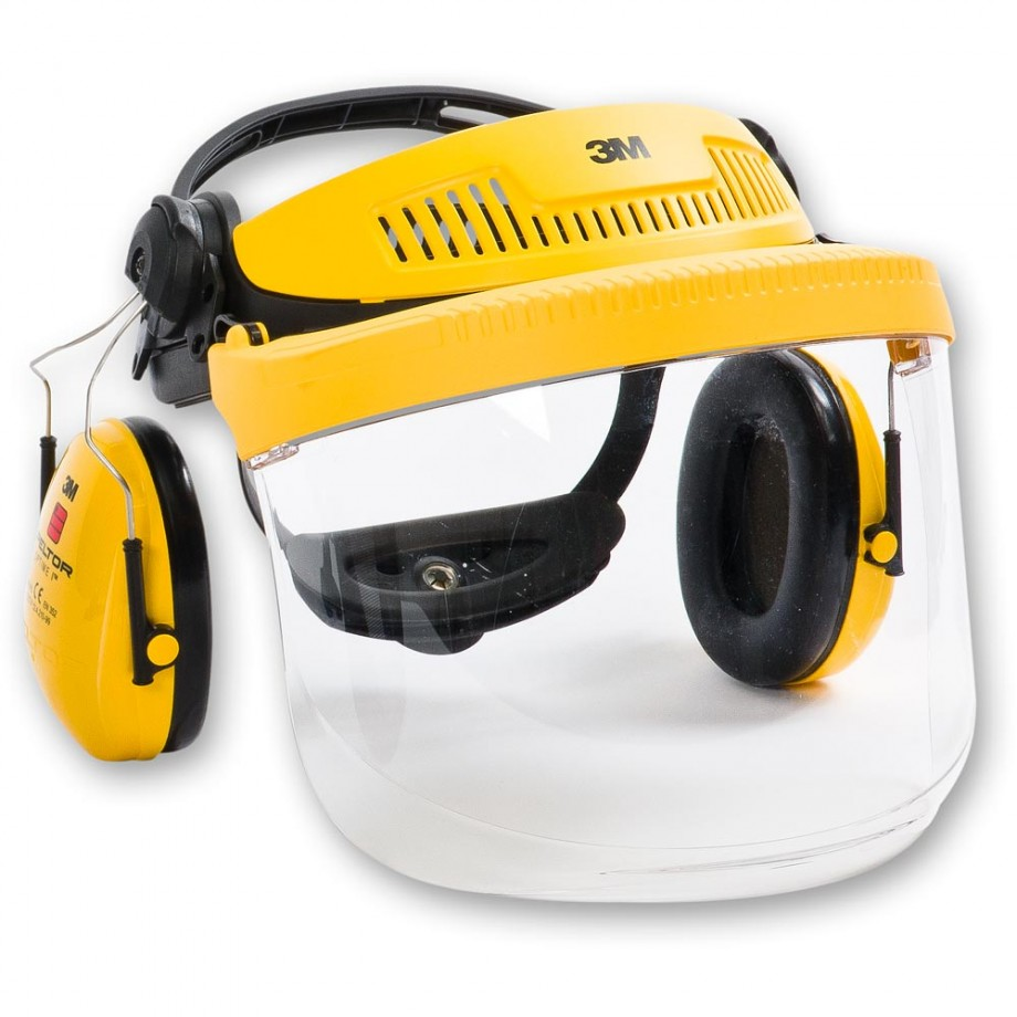3M G500 Face Shield and Ear Defender Combination