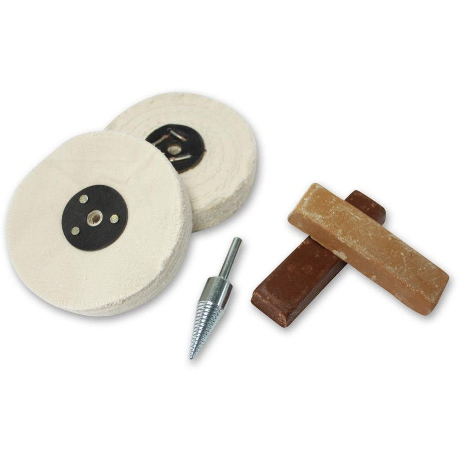 Heavy Duty Polishing Kit for Plastic, Fibreglass & Bakelite