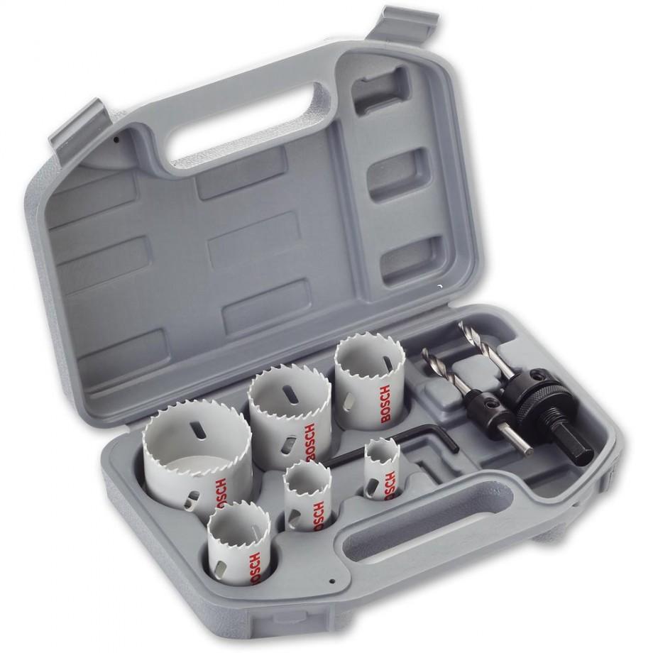 Bosch 8 Piece HSS Bi-Metal Holesaw Electricians Set