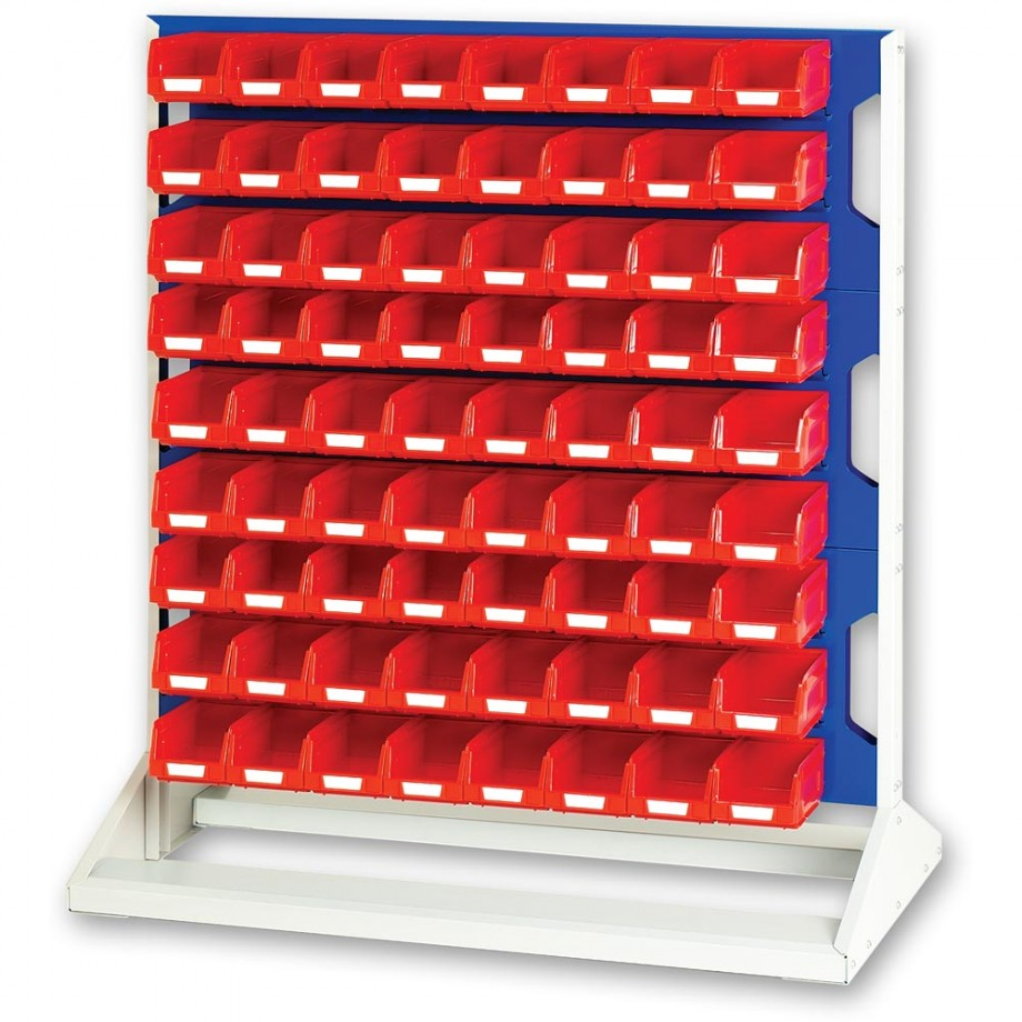 bott 1125mm Static Louvre Storage Rack 144 Red Bins