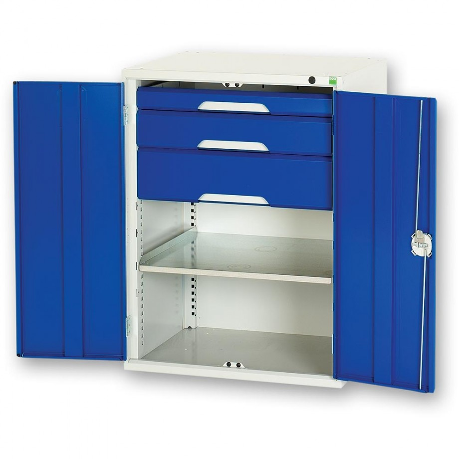 bott Verso 750mm Kitted Cupboard - 1 x Shelf 3 x Drawers