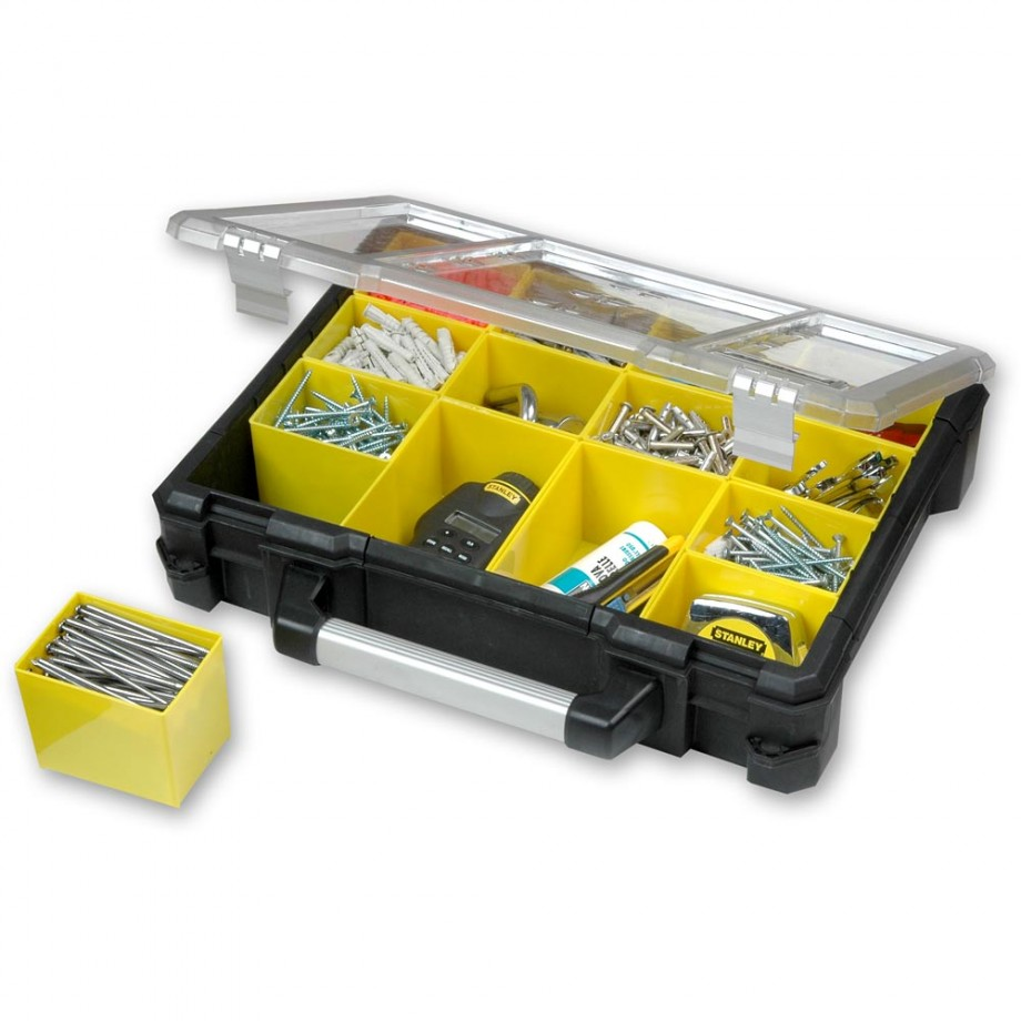 stanley fatmax pro organiser organiser cases small parts storage and organisers benches. Black Bedroom Furniture Sets. Home Design Ideas