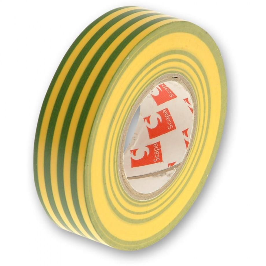 Faithfull PVC Electrical Tape Earth Stripe