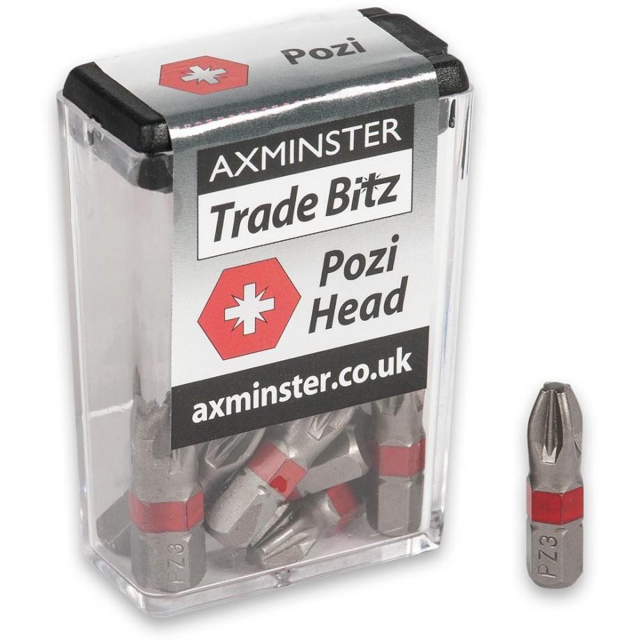Axminster Trade Bitz Pozi PZ3 Screwdriver Bits 25mm (Pkt 10)