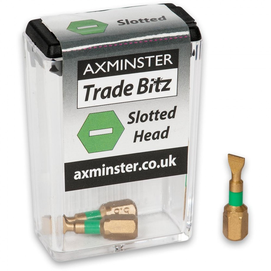 Axminster Trade Bitz TiN 5.5mm S/Driver Bits 25mm (Pkt 3)