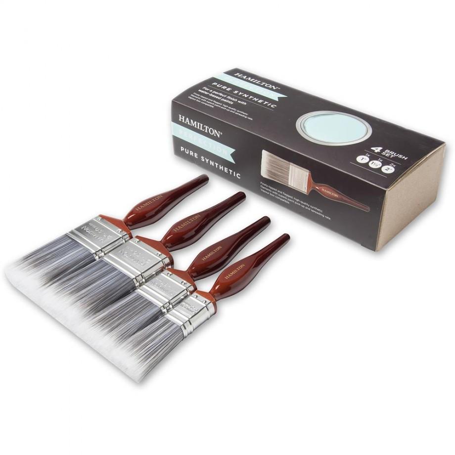 Hamilton Perfection Pure Synthetic Paint Brush Set