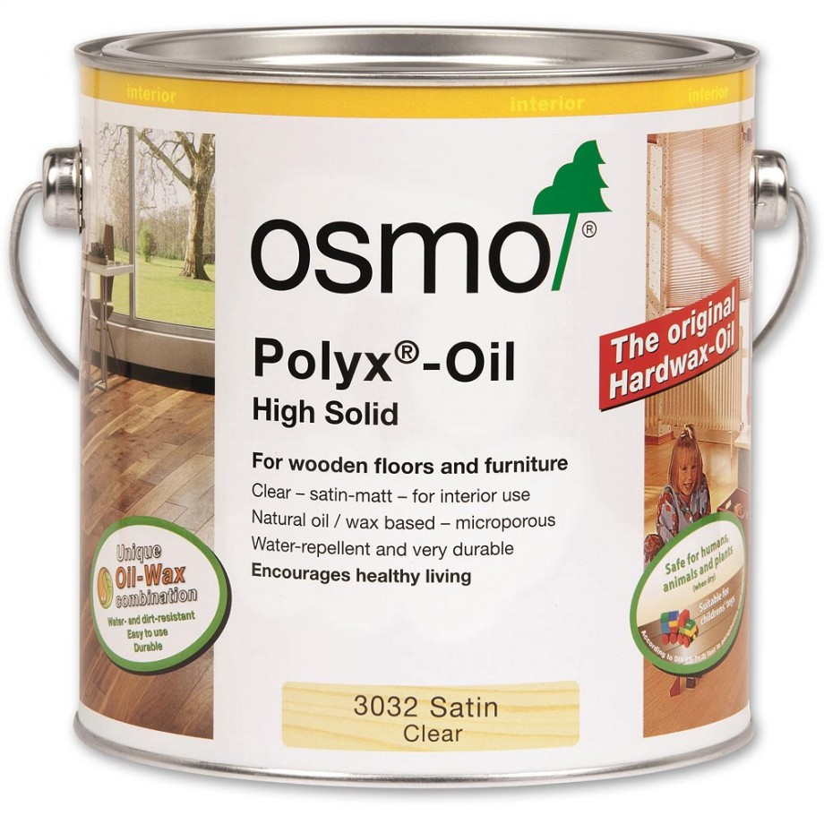Osmo Polyx Hard-Wax Oil 3032 Satin 2.5ltr