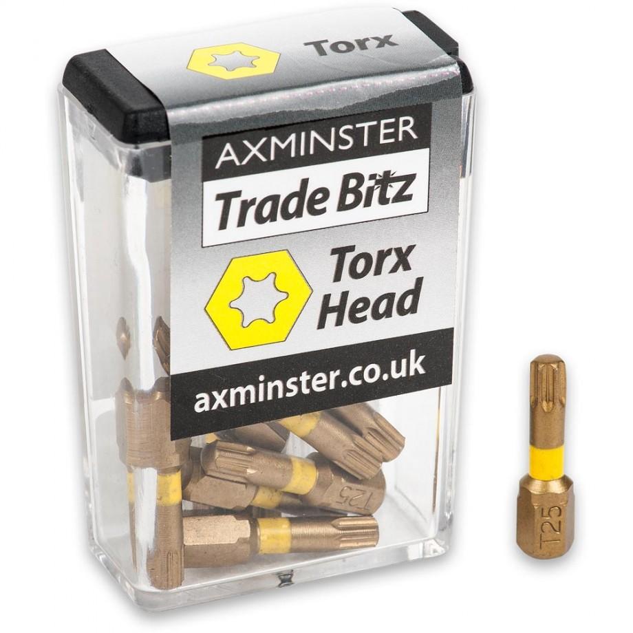 Axminster Trade Bitz TiN T25 S/Driver Bits 25mm (Pkt 10)