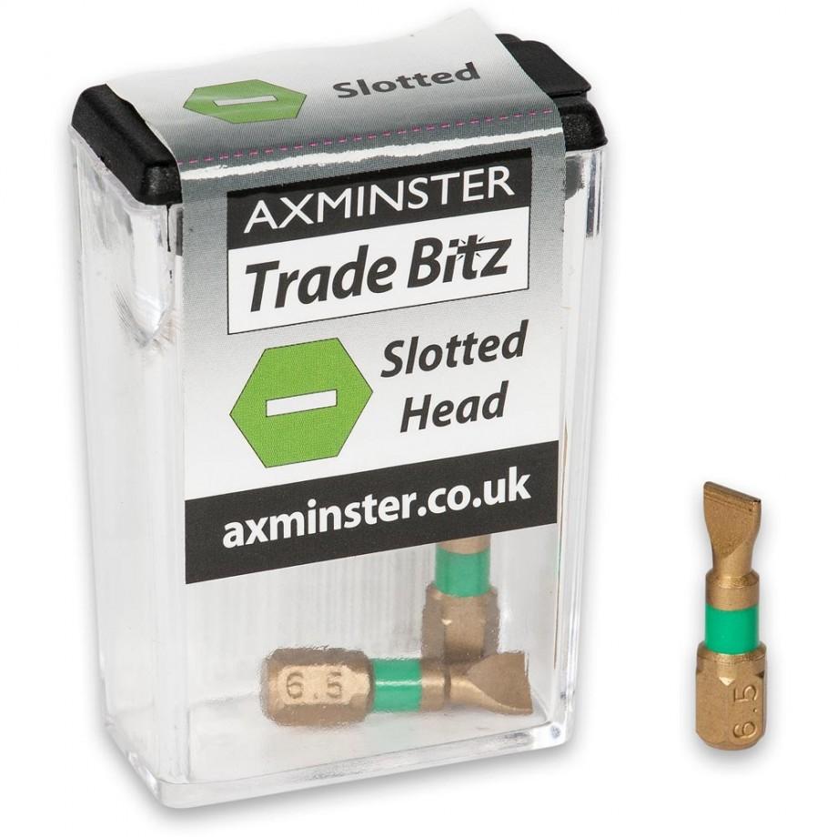 Axminster Trade Bitz TiN 6.5mm S/Driver Bits 25mm (Pkt 3)
