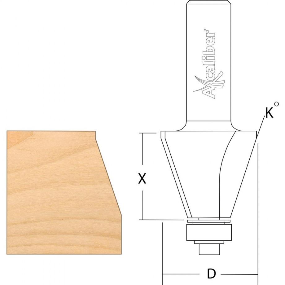 """Axcaliber Bevel Cutter 22.5°  1/2"""""""