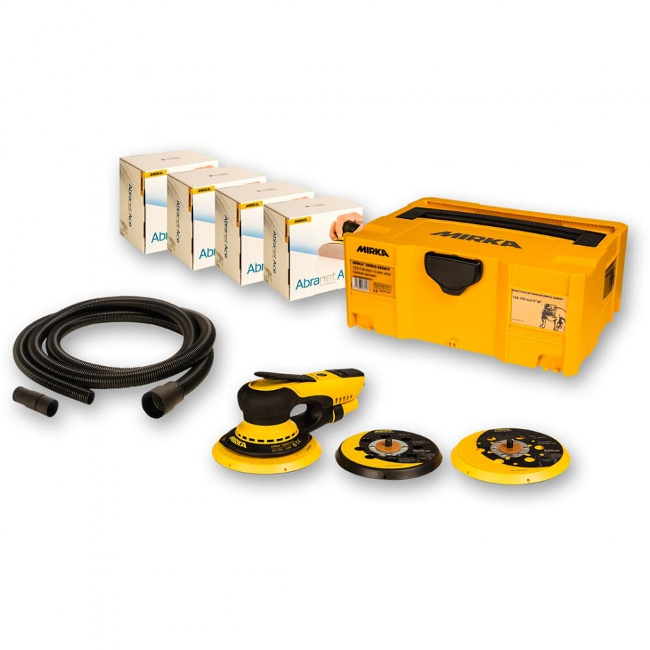 Mirka DEROS 5650CV Random Sander Solution Kit with Abranet ACE & Hose