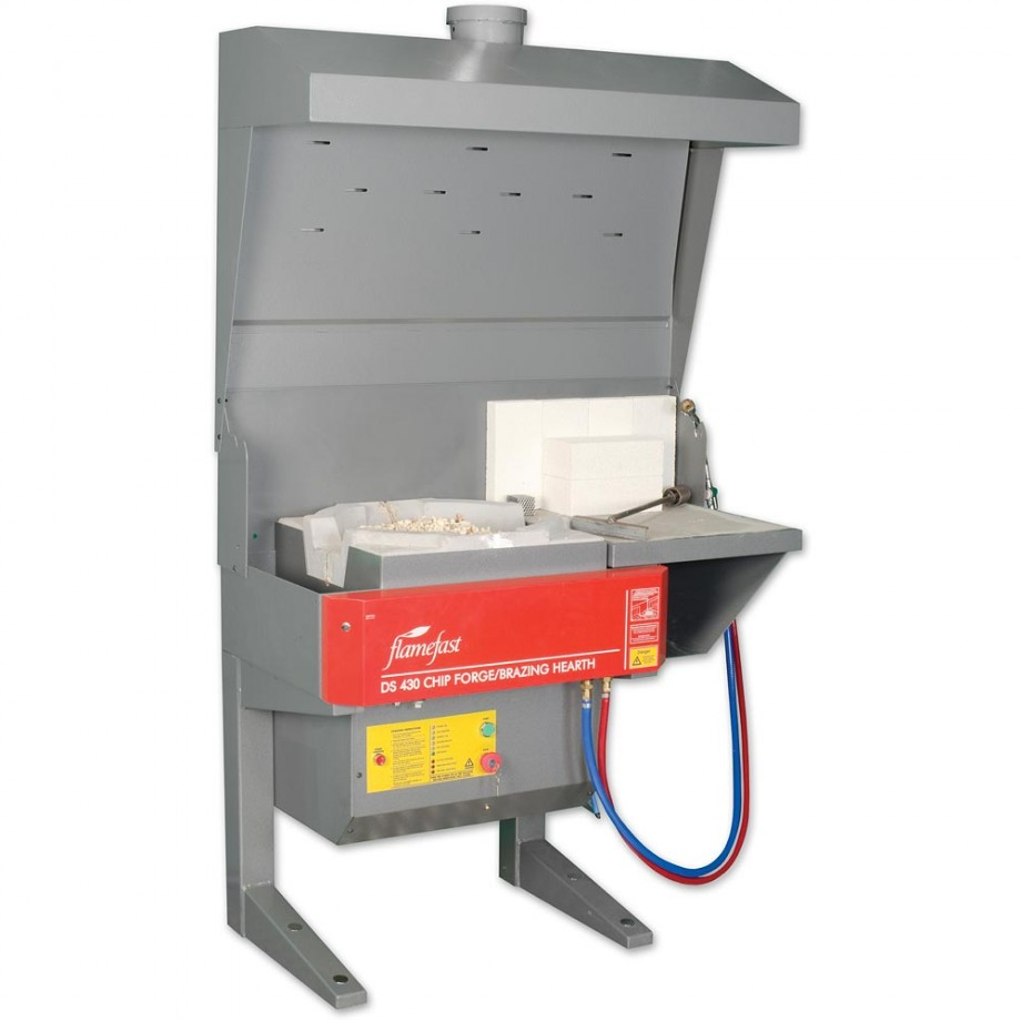 FlameFast DS430S Chip Forge/Single Brazing Hearth