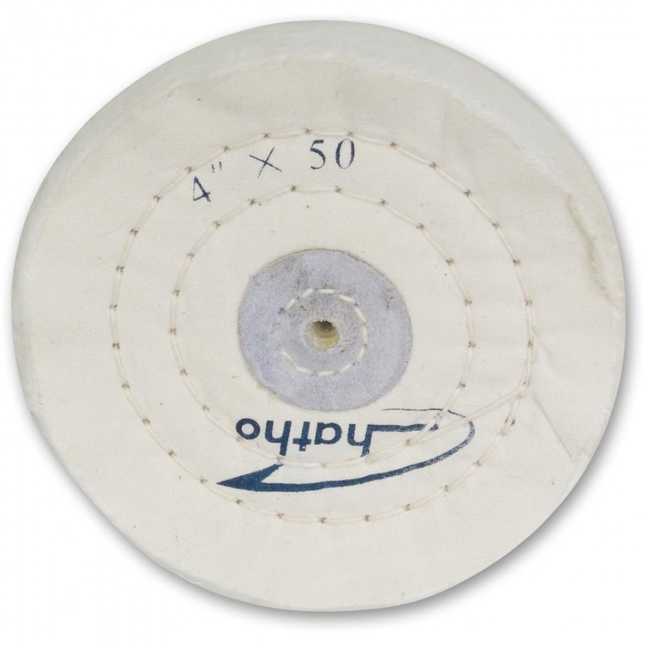 Proxxon Bleached Muslin Polishing Wheel Soft 100mm x 15mm For PM100