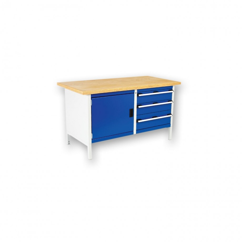 bott Cubio Heavy-Duty Storage Bench 3 Drawer 1 Cupboard