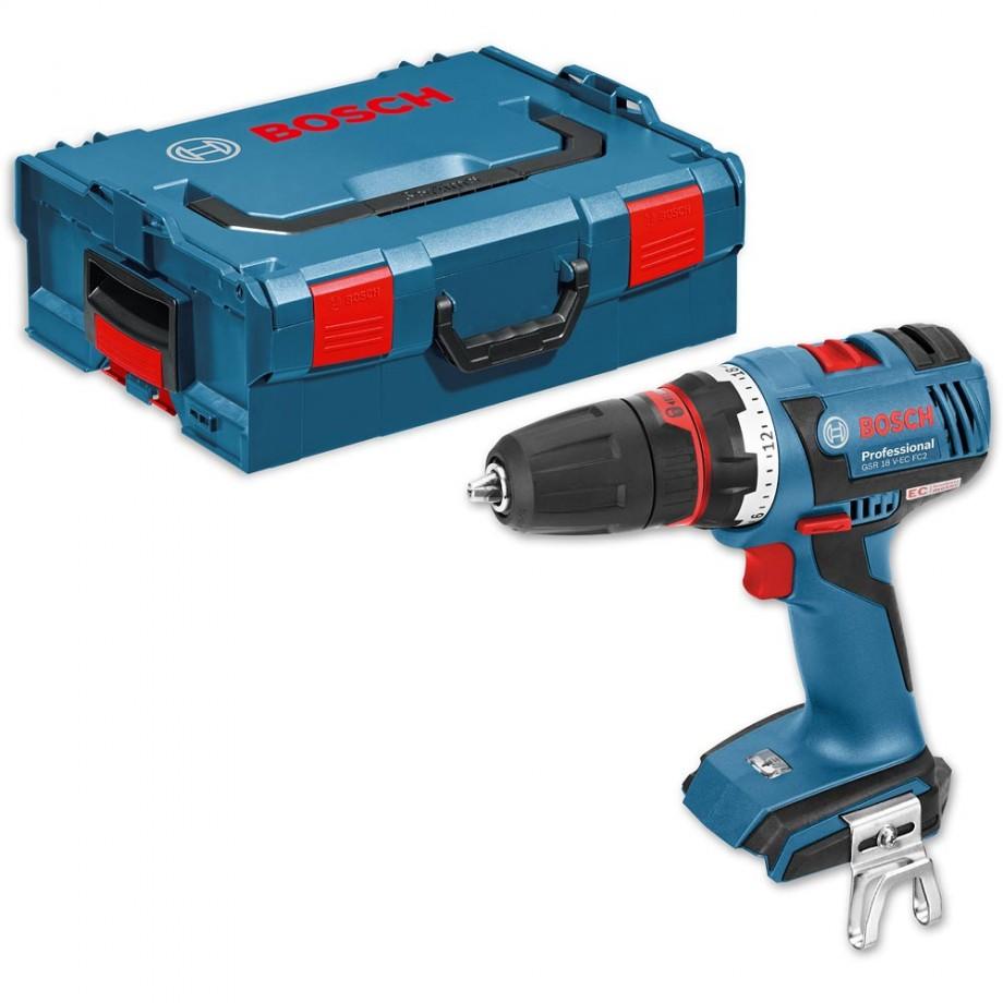 Bosch GSR 18 V-EC FC2 Cordless FlexiClick Drill + L-Boxx 18V (Body ...