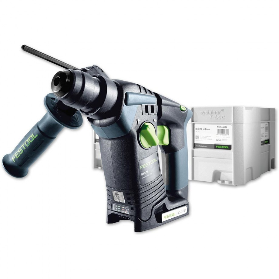 festool bhc 18 li cordless sds hammer drill 18v body only sds drills drills drivers. Black Bedroom Furniture Sets. Home Design Ideas