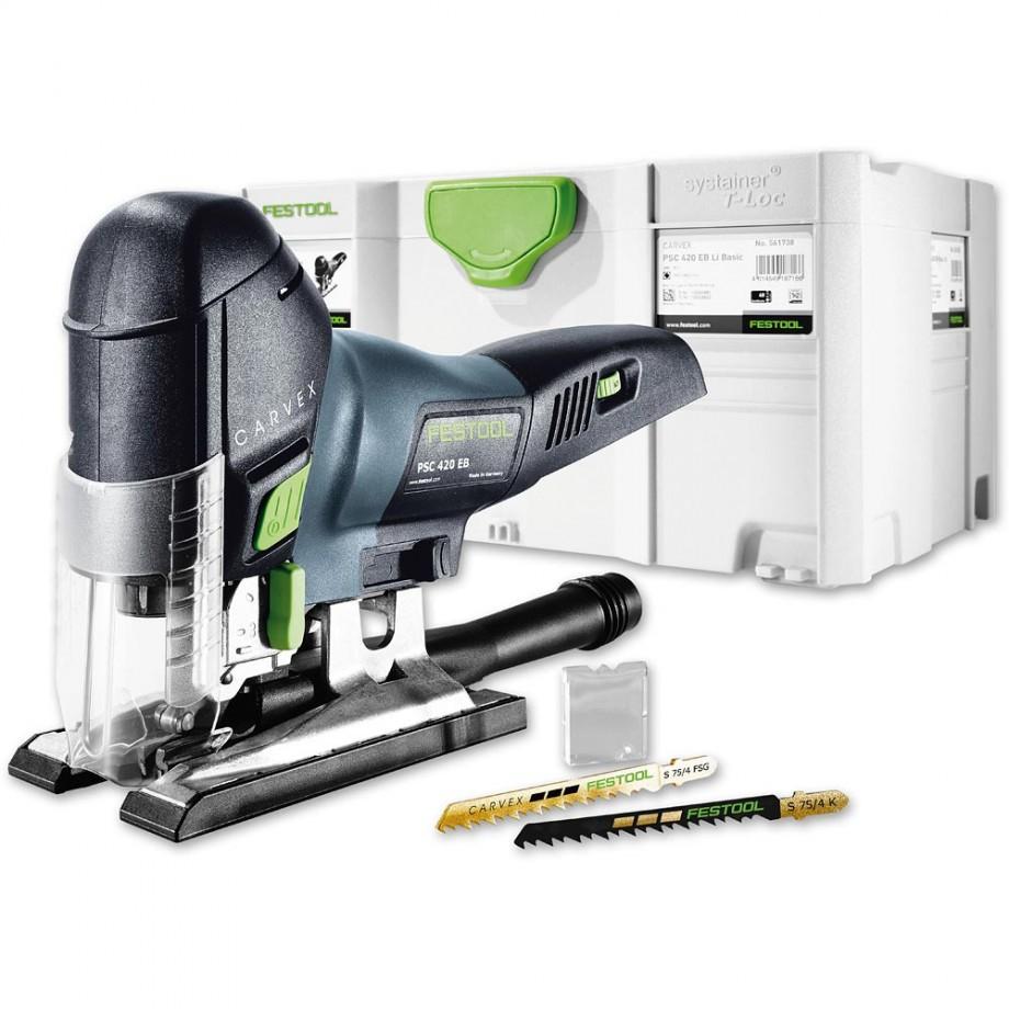 festool psc 420 li cordless jigsaw 18v body only jigsaws saws power tools axminster. Black Bedroom Furniture Sets. Home Design Ideas
