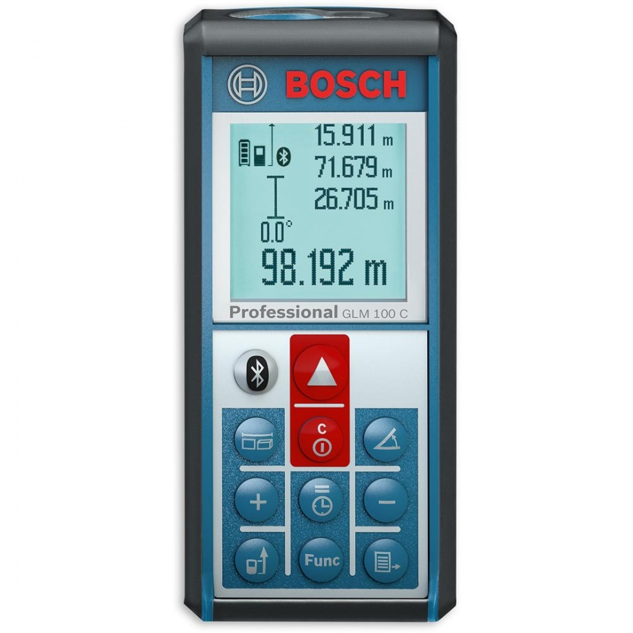 Bosch GLM 100 C Laser Rangefinder with Bluetooth