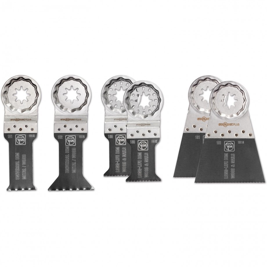 FEIN E-Cut Saw Blade Set of 6 (Starlock Plus)