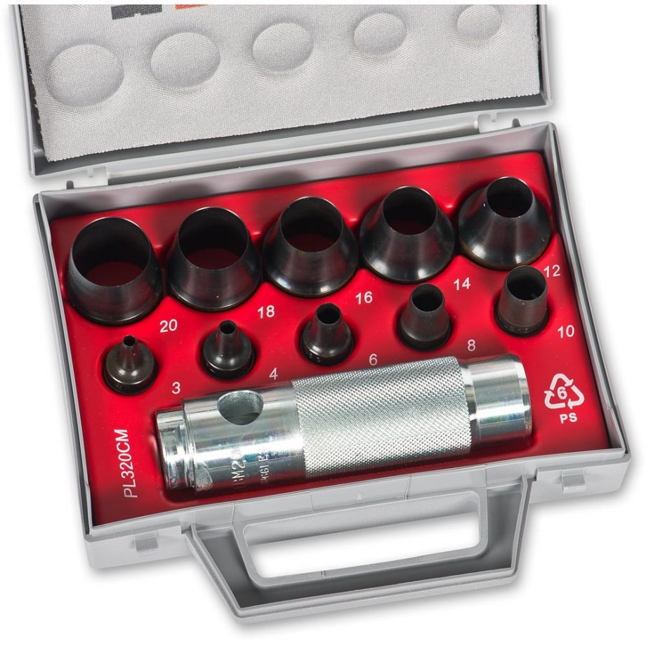 BOEHM Hollow Punch Set 3 to 20mm - 10 Piece