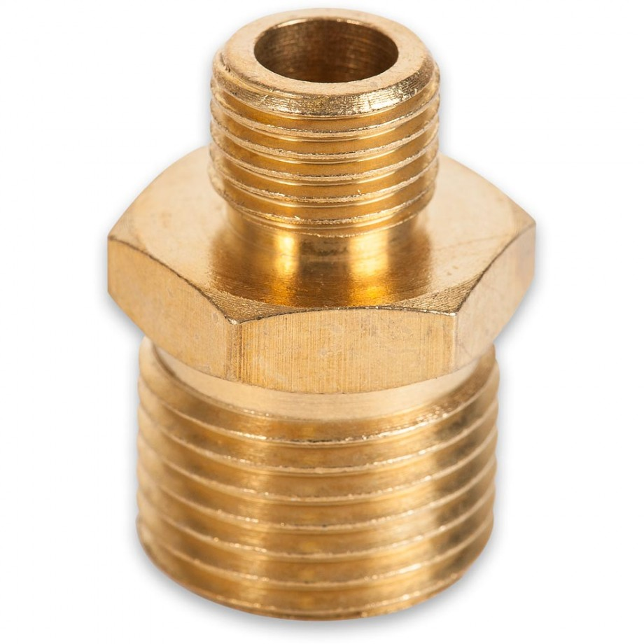 """Axminster Airline Fitting Reducer 1/2"""" BSPT Male, 1/4"""" BSPT Male (4)"""