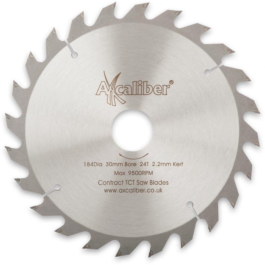 Axcaliber Contract TCT Saw Blade - 184mm x 2.2mm x 30mm T24