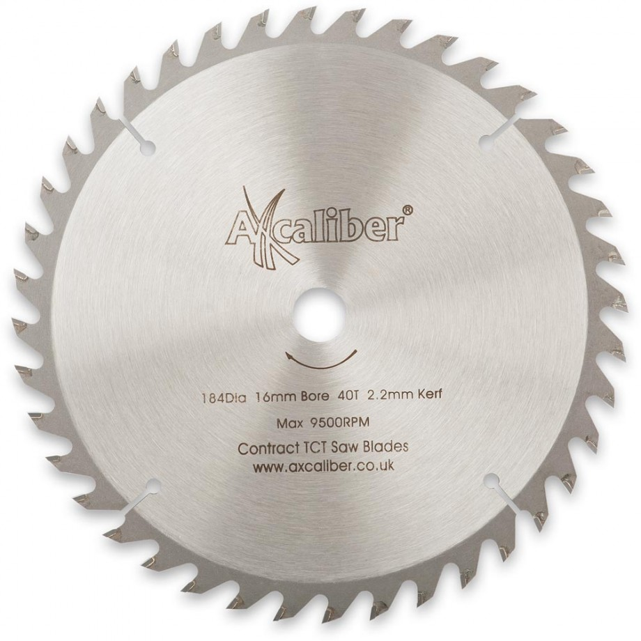 Axcaliber Contract TCT Saw Blade - 184mm x 2.2mm x 16mm T40